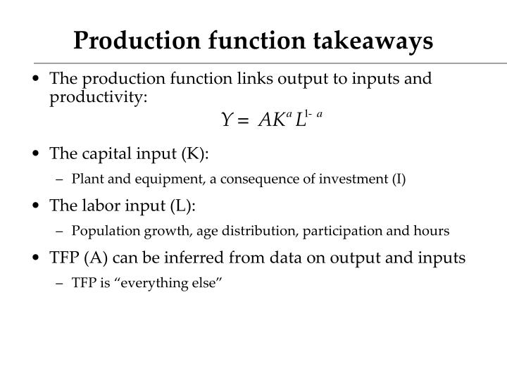 Production function takeaways