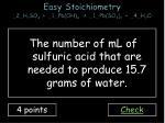 easy stoichiometry 2 h 2 so 4 1 pb oh 4 1 pb so 4 2 4 h 2 o3