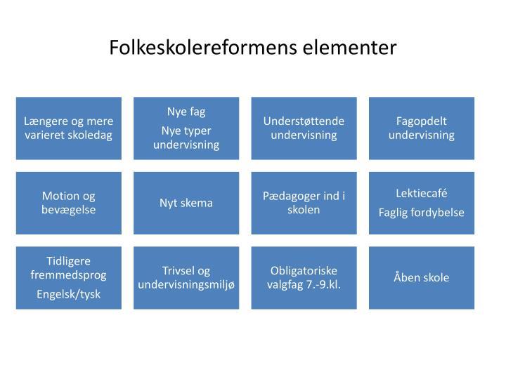Folkeskolereformens elementer