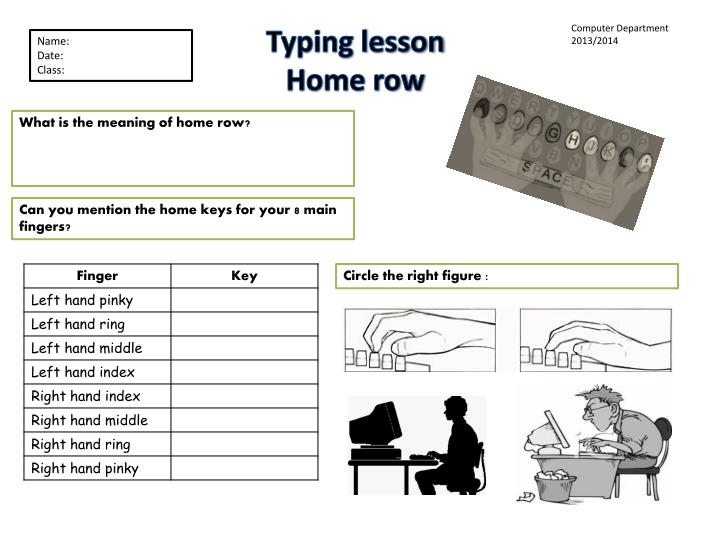 Typing lesson