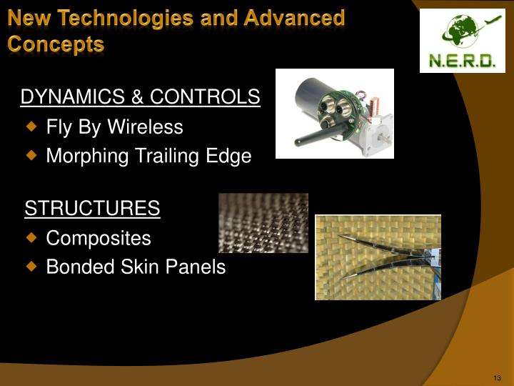 New Technologies and Advanced Concepts
