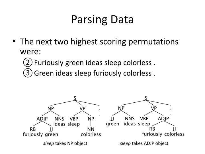 Parsing Data