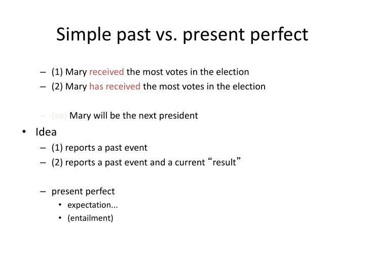 Simple past vs. present perfect