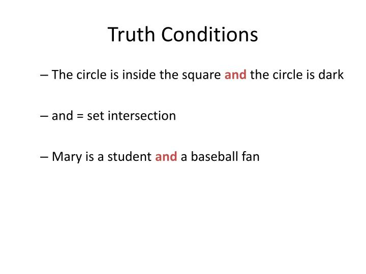 Truth Conditions