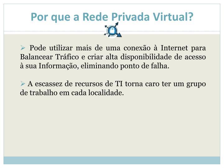 Por que a Rede Privada Virtual?