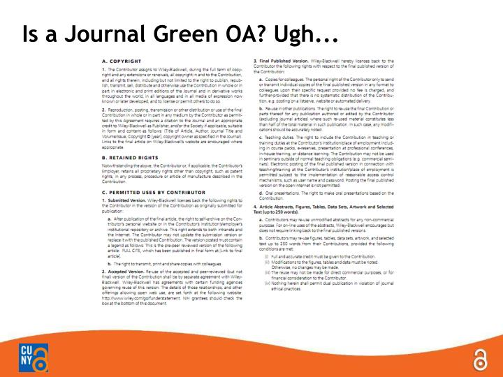 Is a Journal Green OA?