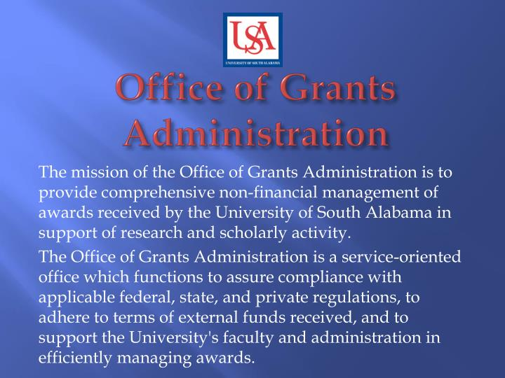 office of grants administration n.
