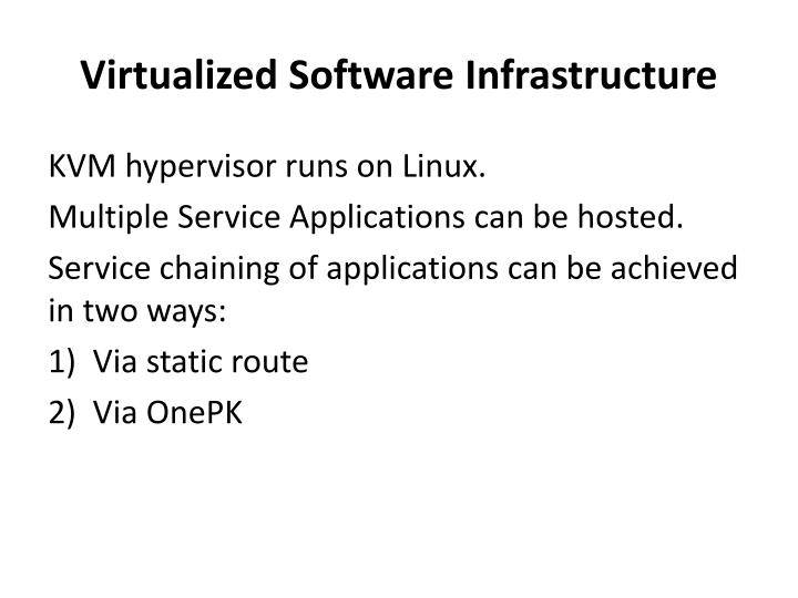 Virtualized Software Infrastructure