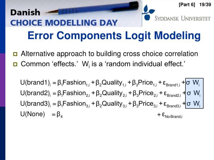 Error Components Logit Modeling