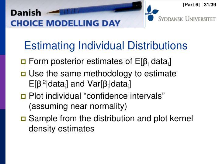 Estimating Individual Distributions