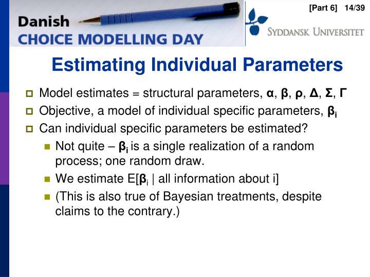 Estimating Individual Parameters