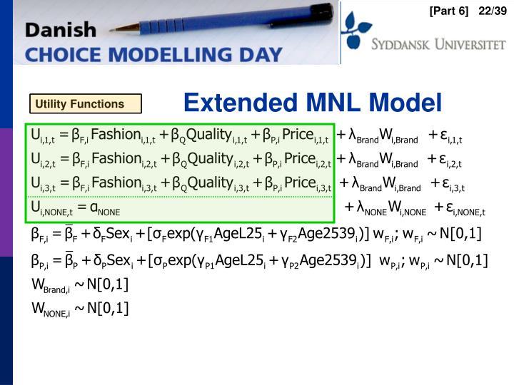 Extended MNL Model