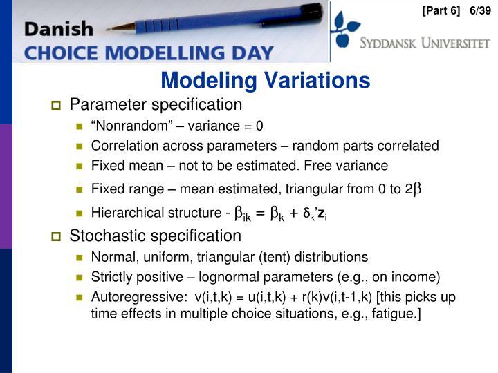 Modeling Variations