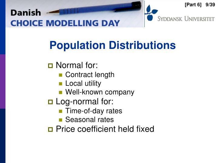 Population Distributions