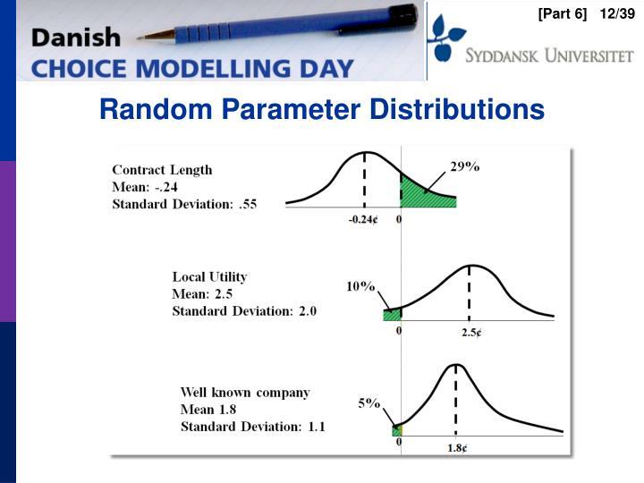 Random Parameter Distributions