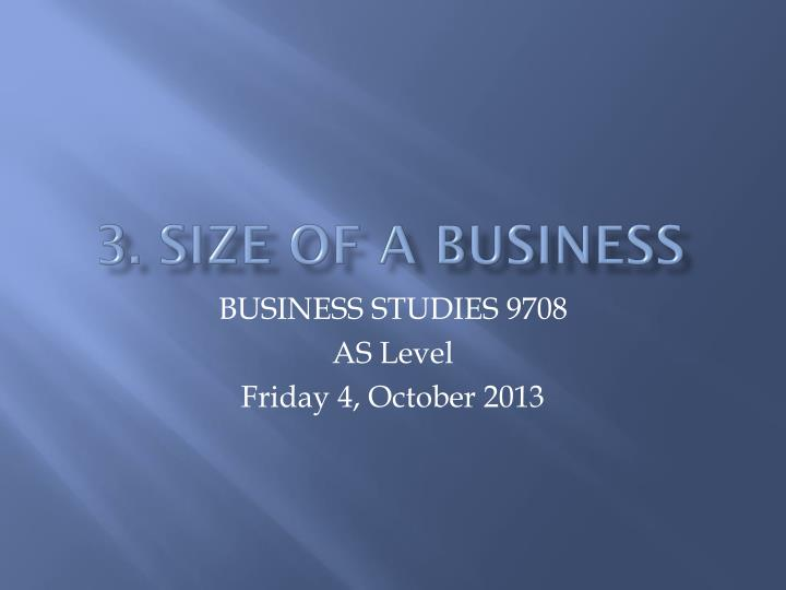 3 size of a business