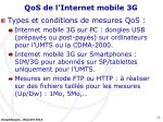 qos de l internet mobile 3g