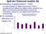 qos de l internet mobile 3g7
