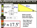 ex 2 figure out which ratio to use find x round to the nearest tenth