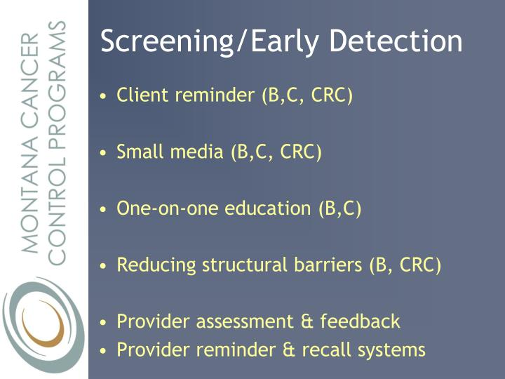 Screening/Early Detection
