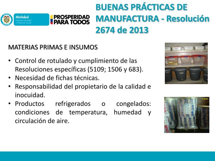 BUENAS PRÁCTICAS DE MANUFACTURA -