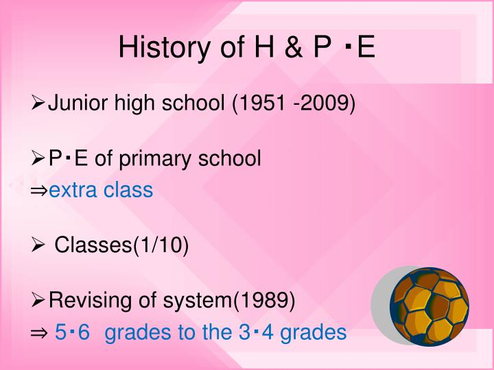 History of H & P