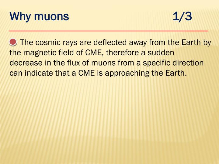 Why muons                                  1/3