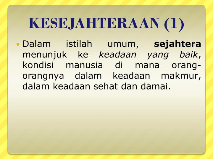 KESEJAHTERAAN (1)