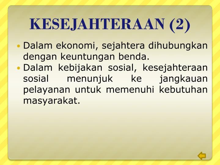 KESEJAHTERAAN (2)