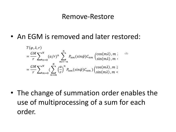 Remove restore