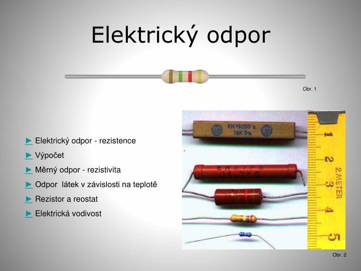 Elektrick odpor