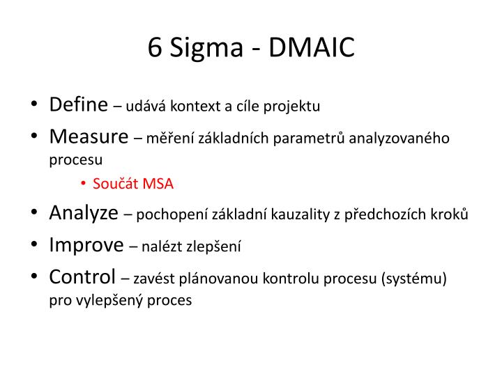 6 sigma dmaic