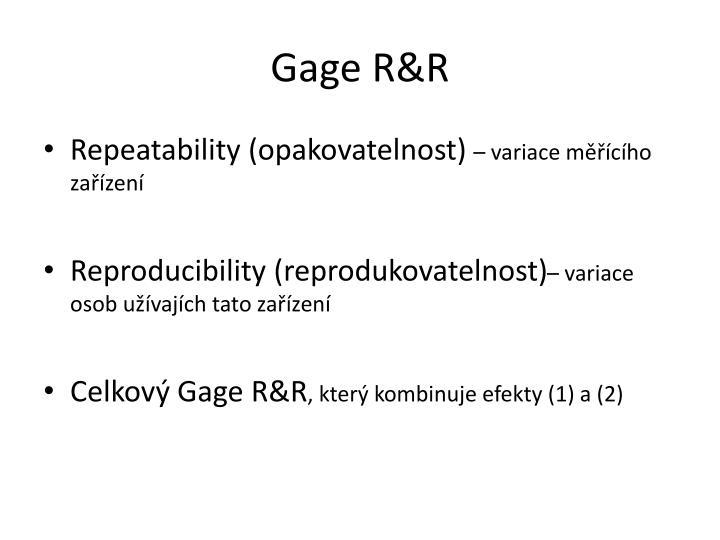 Gage R&R