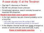 a case study t t at the tevatron