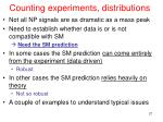 counting experiments distributions