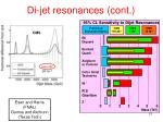 di jet resonances cont