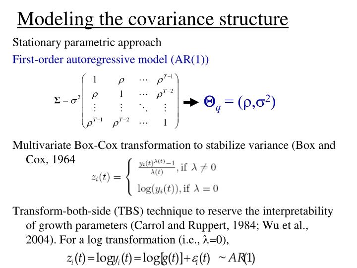 Modeling the covariance structure