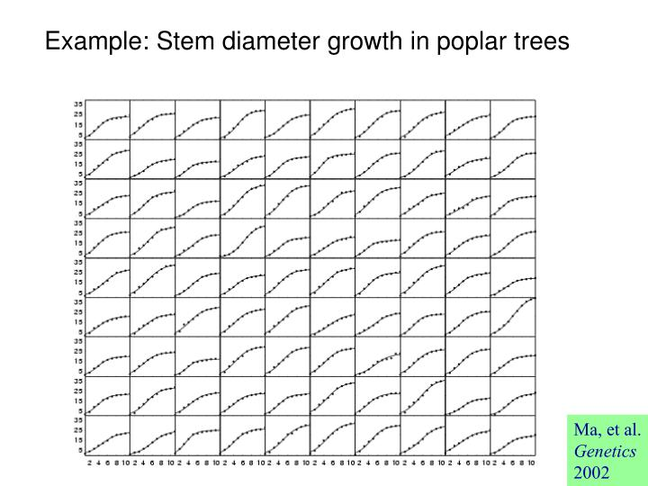 Example: Stem diameter growth in poplar trees