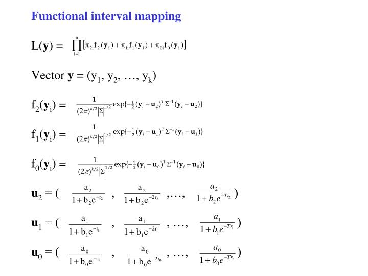 Functional interval mapping