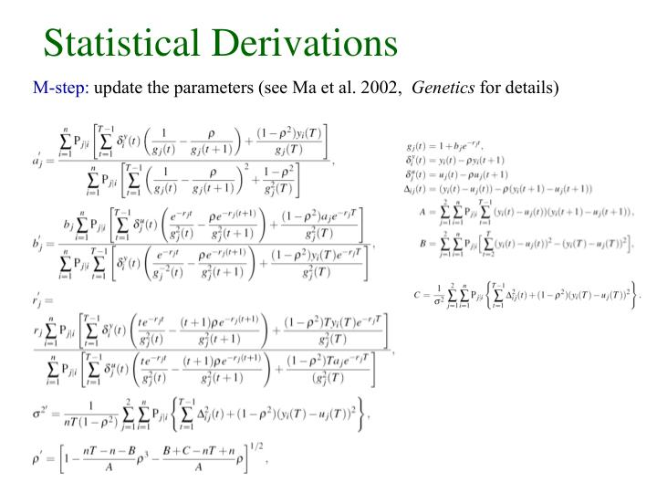 Statistical Derivations