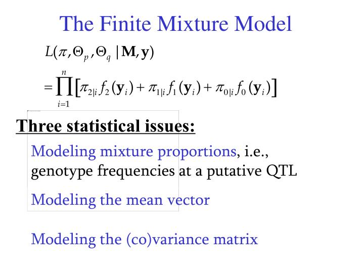 The Finite Mixture Model