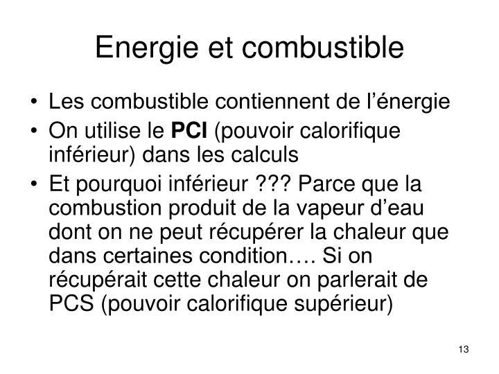 Energie et combustible