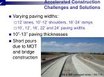 accelerated construction challenges and solutions3