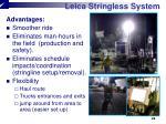 leica stringless system2