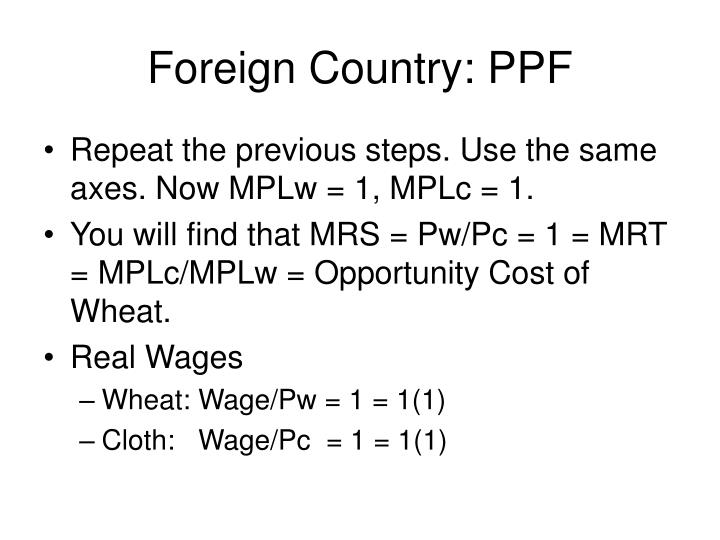 Foreign Country: PPF