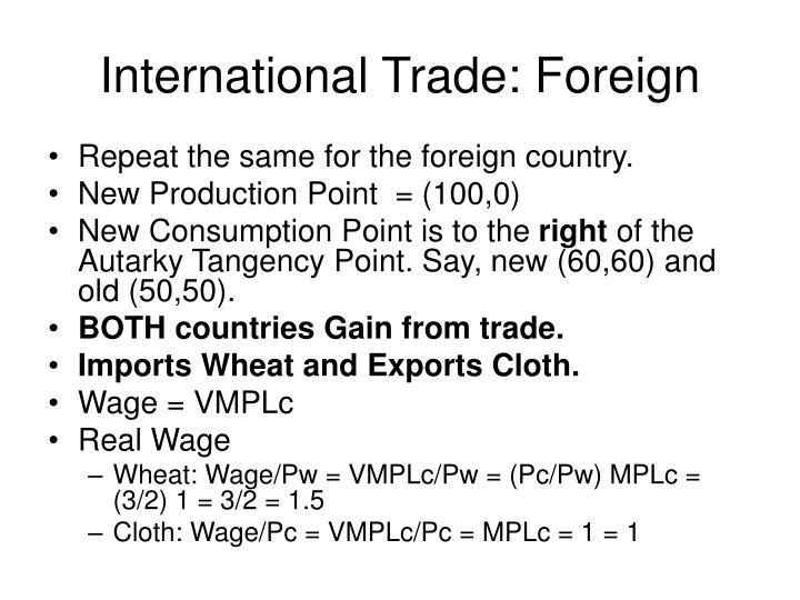 International Trade: Foreign