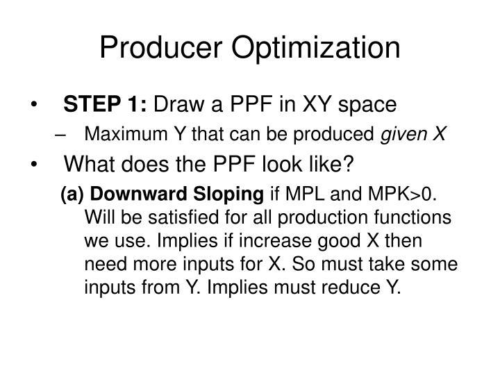 Producer optimization