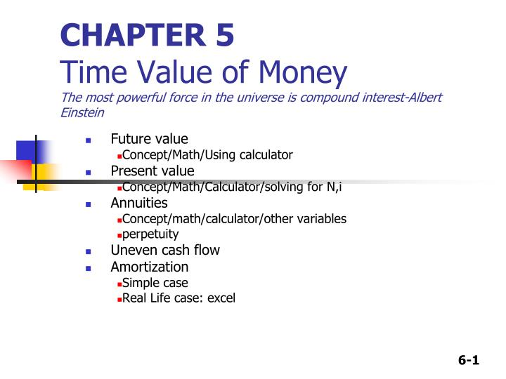 time value of money 5 essay Continue for 5 more pages » • join now to read essay time value of money and other term papers or research documents.