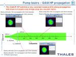 pump lasers gaia hp propagation