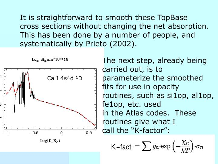 It is straightforward to smooth these TopBase